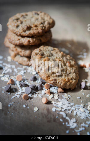 Stack of Homemade Kitchen Sink Cookies - Stock Photo