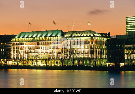 germany hamburg raffles hotel four seasons facade detail stock photo 122939652 alamy. Black Bedroom Furniture Sets. Home Design Ideas