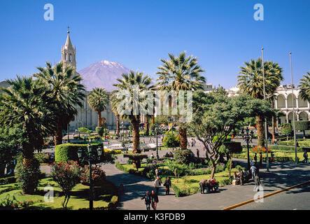 Arequipa, plaza de Armas, Peru - Stock Photo