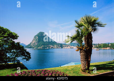 Lake Lugano, Switzerland - Stock Photo