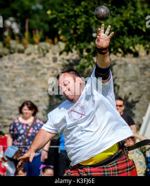 Peebles, Scotland UK 2nd September 2017. Peebles Highland Games, the biggest 'highland' games in the Scottish Borders - Stock Photo