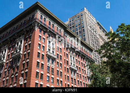 Apartment Building at Madison Square Park , Fifth Avenue, NYC, USA - Stock Photo