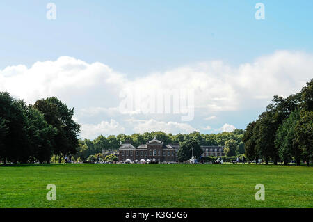 Kensington Palace is a royal residence set in Kensington Gardens, in the Royal Borough of Kensington and Chelsea - Stock Photo