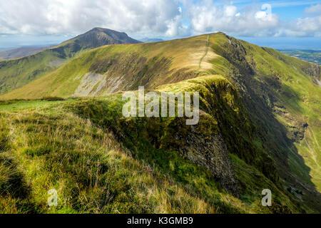 Craig Cwm Silyn and Mynydd Tal-y-mignedd on the Nantle Ridge, Snowdonia, North Wales, UK - Stock Photo