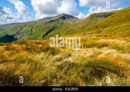 Craig Cwm Silyn on the Nantle Ridge above Cwm Pennant, Snowdonia, North Wales, UK - Stock Photo