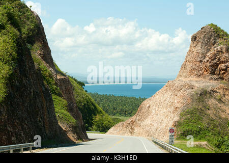 The Dominican Republic, peninsula Samana, boulevard Turistico del Atlantico on the north coast between Las Terrenas - Stock Photo