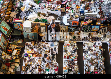 Mercat dels Encants, one of the oldest flea markets of Europe. Today it is located in a modern building. Barcelona, - Stock Photo