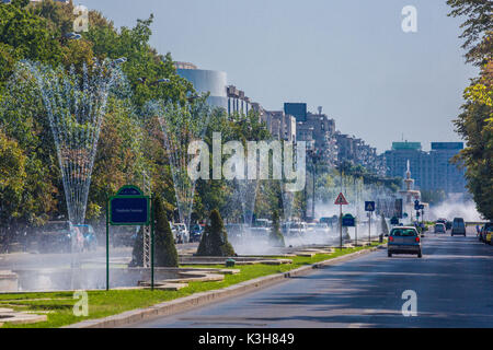 Romania, Bucharest City, Unirii Boulevard - Stock Photo
