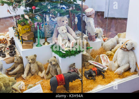 Germany, Bavaria, Munich, Marienplatz, Old Town Hall, The Toy and Teddy Museum (Spielzeugmuseum), Exhibit of Historical - Stock Photo