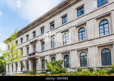 Germany, Bavaria, Munich, The 'Brown House', former Headquarters of the National Socialist German Workers Party - Stock Photo