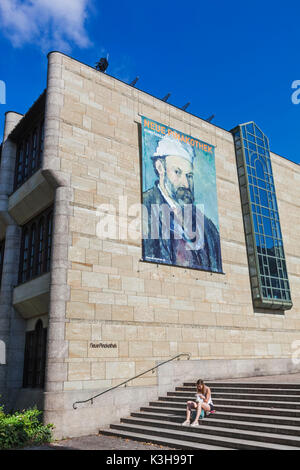 Germany, Bavaria, Munich, The New Pinakothek Museum (Neue Pinakothek) - Stock Photo