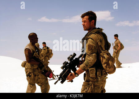 U.S. Air Force Tech. Sgt. Epps (TYRESE GIBSON, left) and Special Forces Army Capt. Lennox (JOSH DUHAMEL, right) - Stock Photo