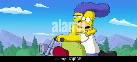 Marge Homer The Simpsons Movie 2007 Stock Photo Alamy