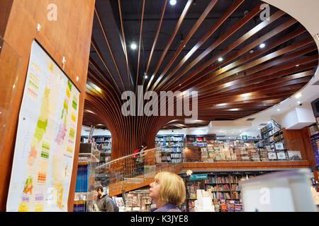Libreria Antartica (Antartica bookstore), Antartica Libros inside La Costanera, Santiago Chile - Stock Photo