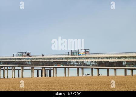 Netherlands, Scheveningen, De Pier, view of the Scheveningen Pier - Stock Photo