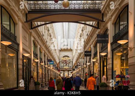 Netherlands, The Hague, De Passage, 19th century shopping arcade, interior - Stock Photo