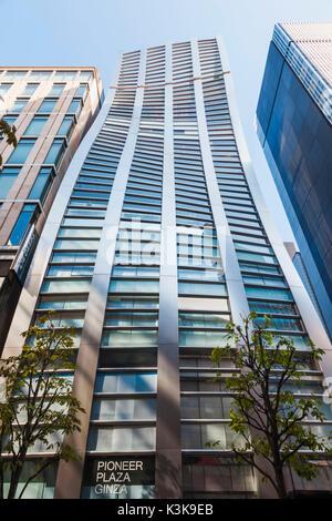 Japan, Hoshu, Tokyo, Ginza, Pioneer Plaza Building - Stock Photo