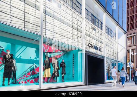 Japan, Hoshu, Tokyo, Ginza, Chanel Store - Stock Photo