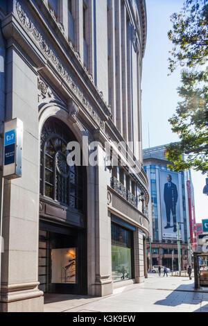 Japan, Hoshu, Tokyo, Ginza, Wako Building - Stock Photo