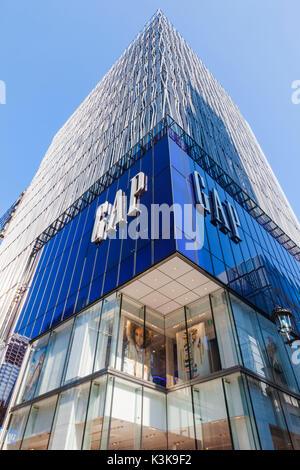 Japan, Hoshu, Tokyo, Ginza, Gap Store - Stock Photo