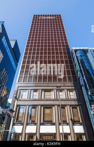 Japan, Hoshu, Tokyo, Ginza, Cartier Store - Stock Photo