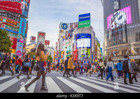 Japan, Tokyo City, Shibuya District, Near Shibuya Station - Stock Photo