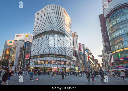 Japan, Tokyo City, Ginza Area, Harumi and Chuo Avenues crossing, - Stock Photo