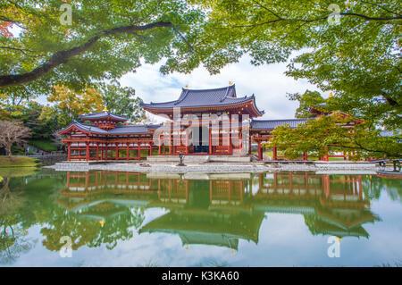 Japan, Kyoto, Uji City, Byodo-in , Phoenix Hall, (W.H.) - Stock Photo