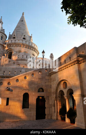 Hungary, Budapest, Fisherman's Bastion - end of 19th century located in the historical Buda Castle district listed - Stock Photo