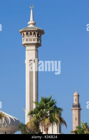 UAE, Dubai, Bur Dubai, mosque at The Rulers Court - Stock Photo