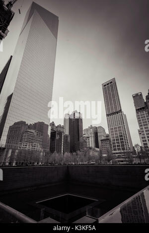 National 9/11 Memorial, World Trade Center Memorial Foundation, Manhatten, New York City, New York, USA - Stock Photo