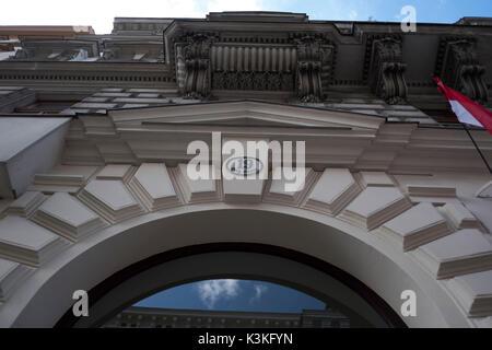Europe, Austria, Vienna, capital, Sigmund Freud Museum, facade, detail - Stock Photo