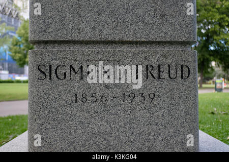 Europe, Austria, Vienna, capital, Sigmund Freud menproal, detail - Stock Photo