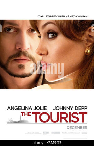 THE TOURIST JOHNNY DEPP, ANGELINA JOLIE     Date: 2010 - Stock Photo