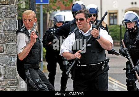 HOT FUZZ [BR/FR/US 2007] SIMON PEGG, NICK FROST     Date: 2007 - Stock Photo