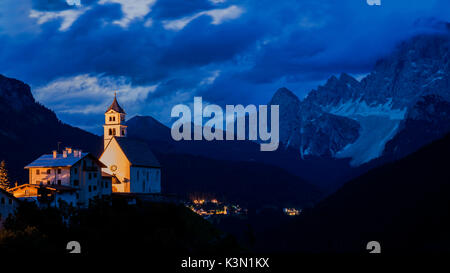 The village of Colle Saint Lucia, in the province of Belluno is located in the center of the Dolomites, in the northern - Stock Photo