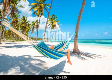 Canto de la Playa, Saona Island, East National Park (Parque Nacional del Este), Dominican Republic, Caribbean Sea. - Stock Photo