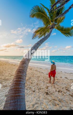 Bavaro Beach, Bavaro, Higuey, Punta Cana, Dominican Republic. (MR). - Stock Photo