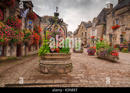 Rochefort-en-terre, Brittany, Morbihan department, France. It is one of the villages included in the list of 'Villes - Stock Photo