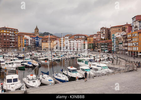 Bermeo, province of Biscay, Basque country, Northern Spain. View of harbour - Stock Photo