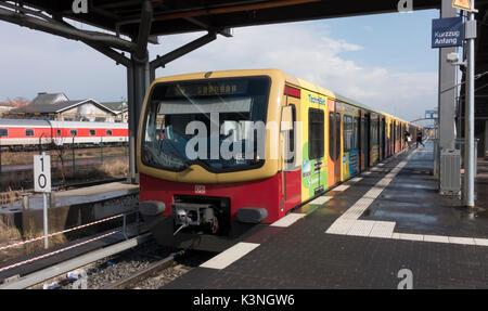 Berlin S-Bahn Train at Warschauer Staβe Station -1 - Stock Photo