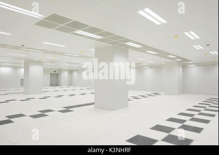Interior view of an empty data center in Beijing,China. - Stock Photo