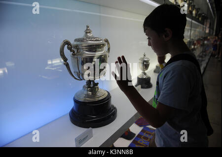 Camp Nou Experience Tour and Museum. - Stock Photo