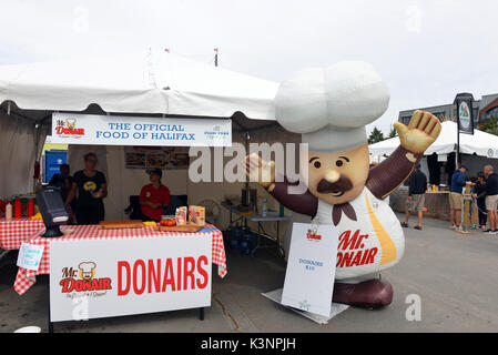 Halifax, Canada - July 29, 2017: Mr. Donair stand at the Taste of Nova Scotia section at the Tall Ships event. The - Stock Photo