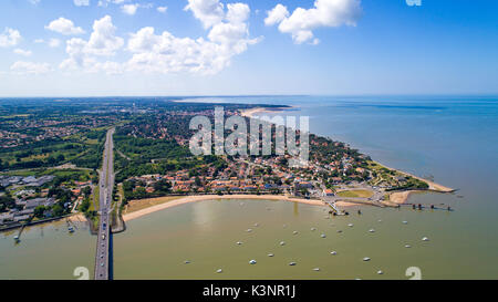 An aerial view of Saint Brevin les Pins in Loire Atlantique - Stock Photo