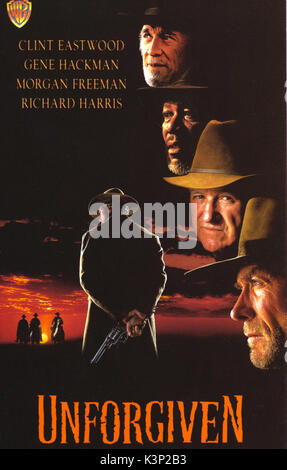 UNFORGIVEN [US 1992] CLINT EASTWOOD, RICHARD HARRIS, MORGAN FREEMAN, GENE HACKMAN     Date: 1992 - Stock Photo