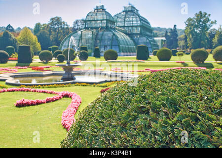 Vienna, Austria - September 24, 2014: Botanical garden near Schonbrunn palace in Vienna