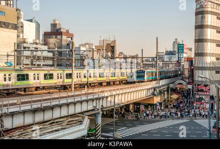 Cityscape at the Ueno Business District, Tokyo, Japan | Strassenszene im Ueno Geschaeftsviertel, Tokyo, Japan - Stock Photo