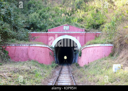 A railway tunnel on the Kalwa to Inle Lake trek, Myanmar - Stock Photo