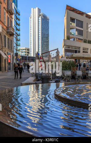 The urban area of Corso Como known for restaurants and shopping Milan Lombardy Italy Europe - Stock Photo